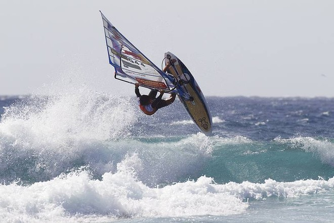 Tweaked air from Koster - PWA Tenerife World Cup 2011 day two © PWA World Tour http://www.pwaworldtour.com