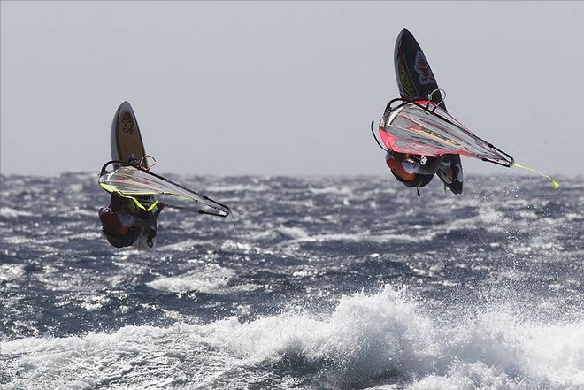Twins go to battle - PWA Tenerife World Cup 2011 day two © PWA World Tour http://www.pwaworldtour.com