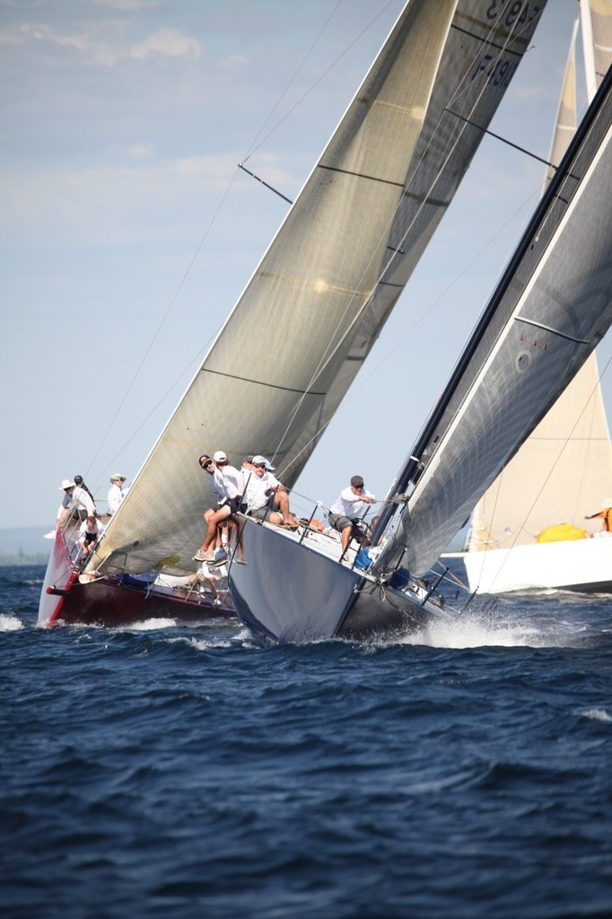 Black Betty shows the way to Charlotte leading in to the top mark. - Geographe Bay Race Week 2011 © Bernie Kaaks - copyright