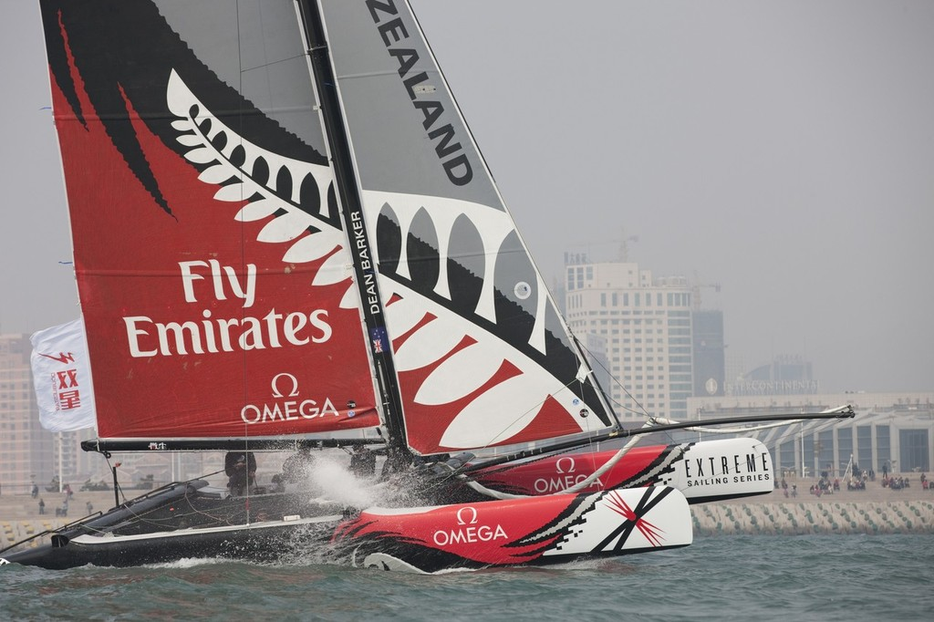Emirates Team NZ on Day 2 of the Extreme 40's in Qingdao, China © SW