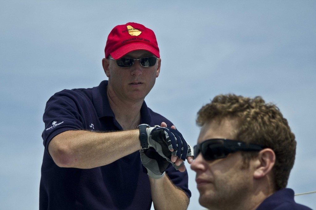 Eric Schoefernacker checks the time until the start - 103rd Race to Mackinac © Sean Palizza