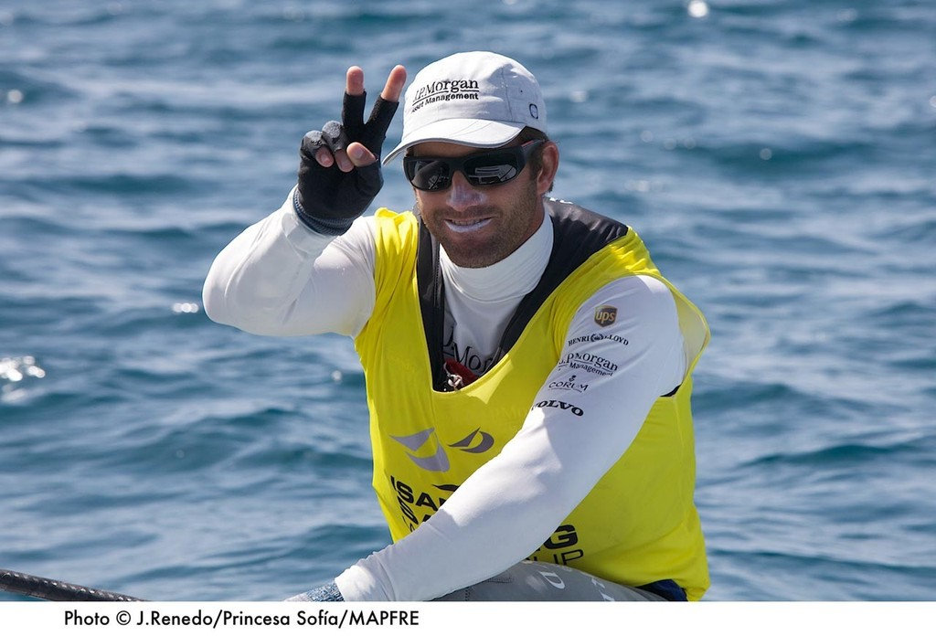 Ben Ainslie won today's medal race and wins the Princesa Sofia Mapfre ISAF World Cup Regatta ©  Jesus Renedo http://www.sailingstock.com