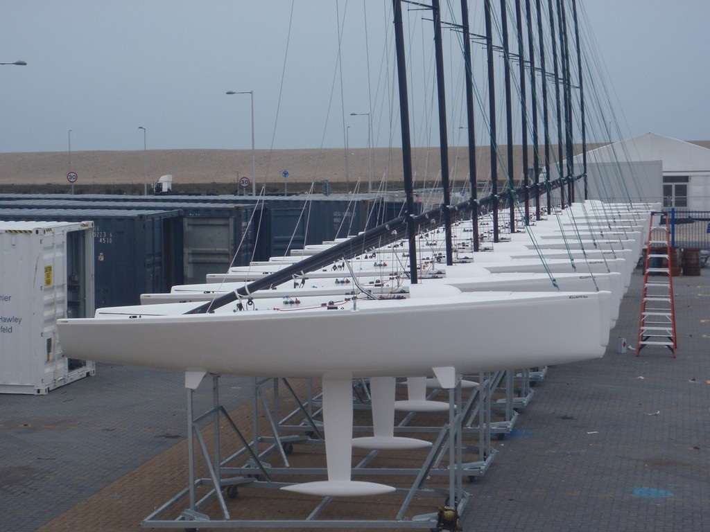 Elliott 6m fleet ready for Olympic Women's Match Racing  - Weymouth & Portland International Regatta - photo © Elliott 6m Sailing