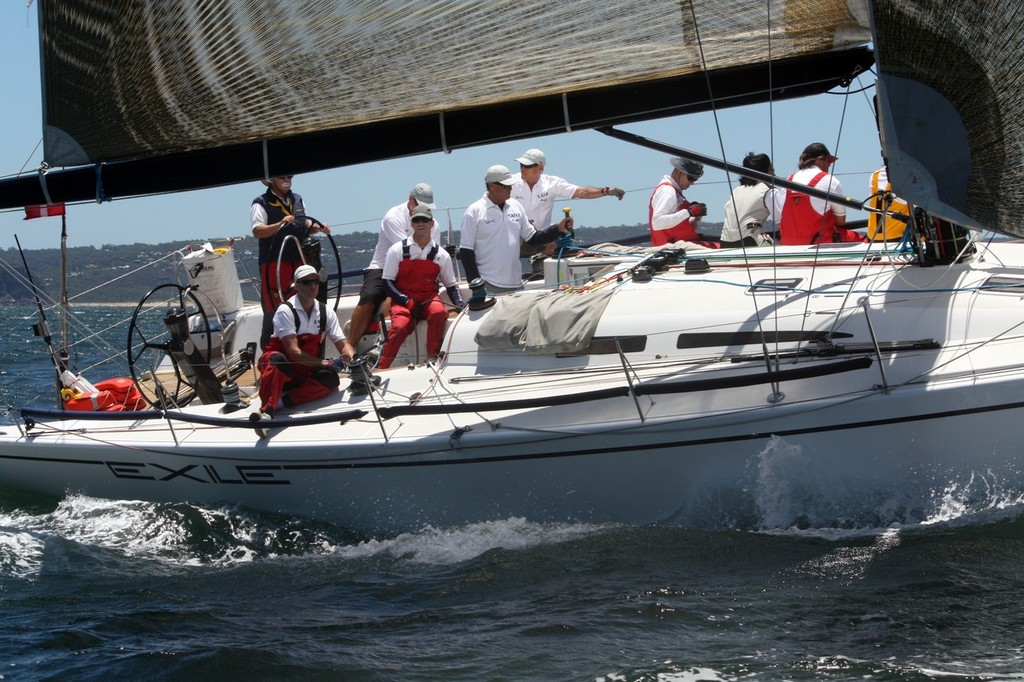 The other DK46 Rob Reynolds Exile just after the start  - 2012 Pittwater & Coffs Harbour Regatta © Damian Devine