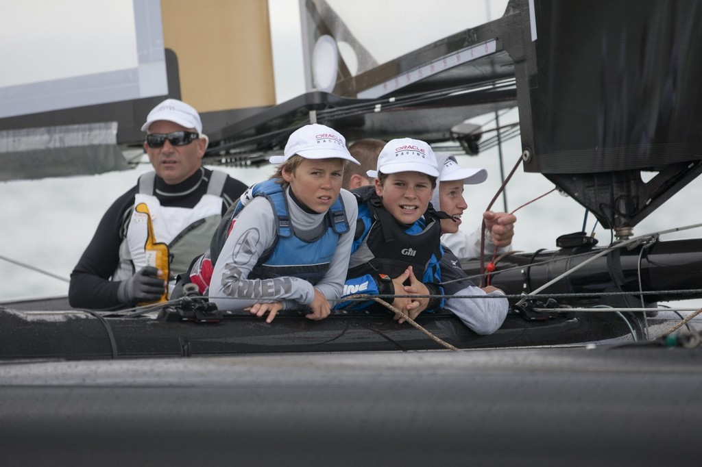 Taking in the moment - an unforgettable experience © Gilles Martin-Raget/Oracle Racing.com http://www.oracleteamusamedia.com/