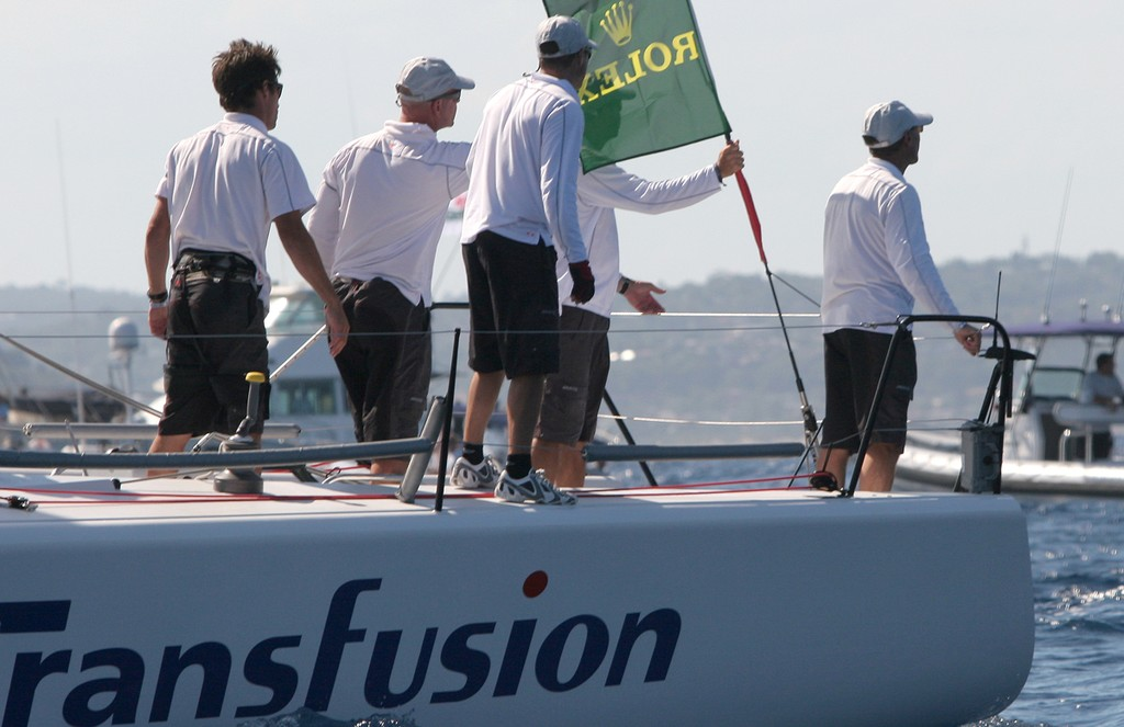 Have we done enough? Transfusion's crew watch Nerone approaching the finish line in the last race - Rolex Farr 40 World Championships © Crosbie Lorimer http://www.crosbielorimer.com