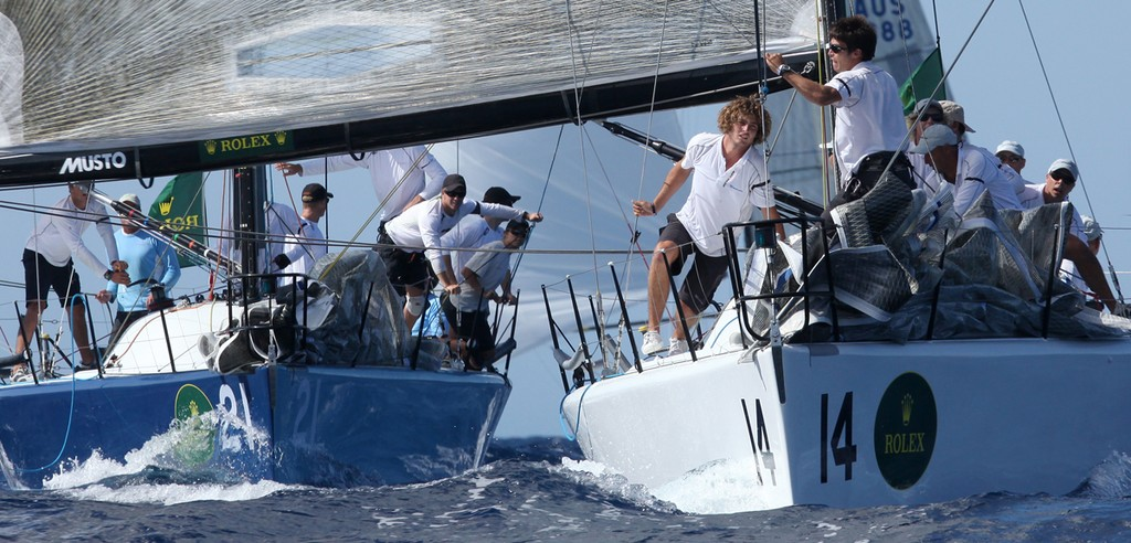 Crew get busy on Transfusion and Goombay Smash - Rolex Farr 40 World Championships © Crosbie Lorimer http://www.crosbielorimer.com