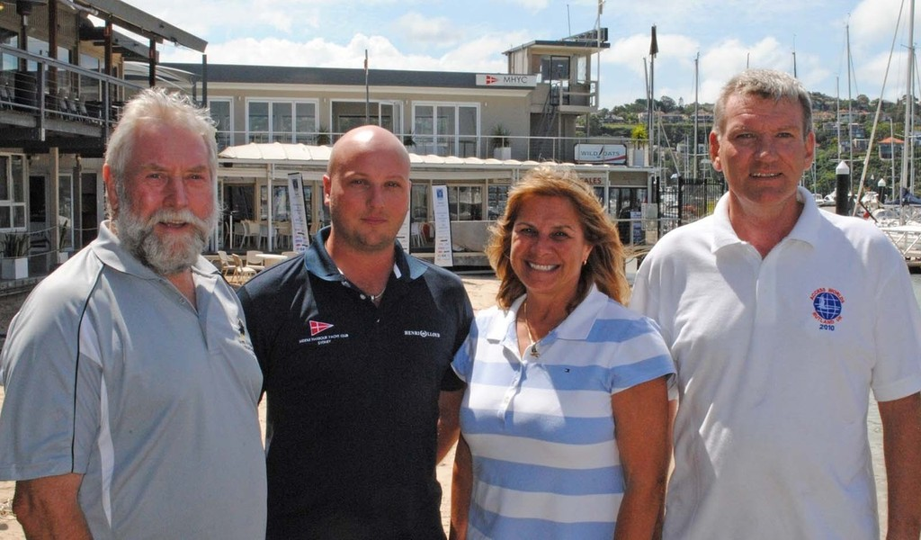 IACA President Terry Peek, MHYC Sailing Manager Brendan Rourke, Commodore Julie Hodder & AACA NSW Delegate Tony Clear at MHYC - Access Class 2012 Combined World and International Championships &copy; International Access Class Association<br />  http://www.accessclass.org