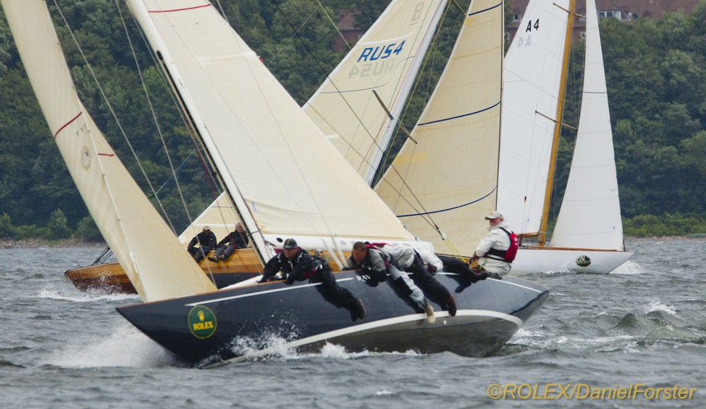 Raven (CAN 25), 1938, 8mR, Richard Self & Mark Decelles (Vancouver, Canada)<br /> Astra II (RUS 4), 2007, 8mR, Alexey Rusetsky (St. Petersburg, Russia) &copy;  Rolex/Daniel Forster http://www.regattanews.com