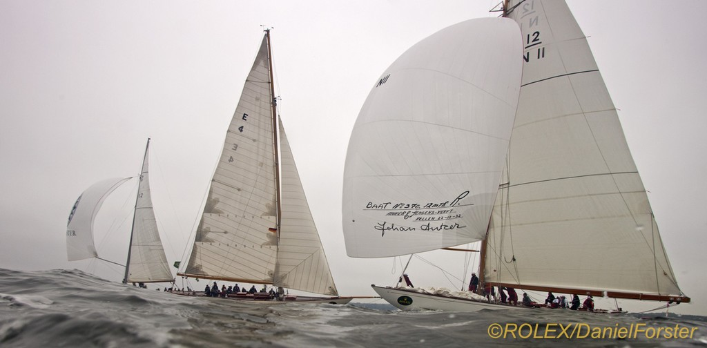 Vema III (N 11), 1933, 12mR, Skipsrederiet Vema III AS/Eric Svenkerud (Oslo, Norway)<br /> Magda VIII (E 4), 1908, 12mR, Framnæs AS (Sandefjord, Norway) - Rolex Baltic Race Week - Final Day &copy;  Rolex/Daniel Forster http://www.regattanews.com