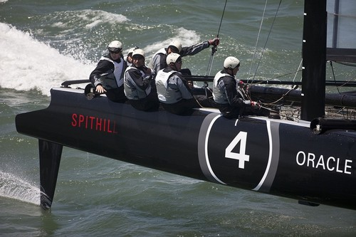 Oracle's other AC45's - 4 - sailing in Francisco - 10 June 2011. They were ruled out of class for the final four regattas in the America's Cup World Series © Guilain Grenier Oracle Team USA http://www.oracleteamusamedia.com/