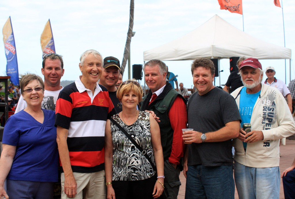 Amaya & Boudicea Crew at Beach Party, Sunday. Sealink Magnetic Island Race Week 2011 ©  SW