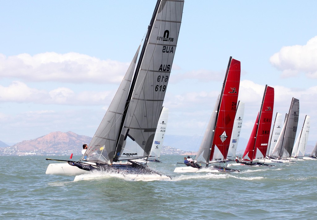 F18s all in a row. Fantasea 2011 F18 Australian Championships  part of Sealink Magnetic Island Race Week 2011 ©  SW