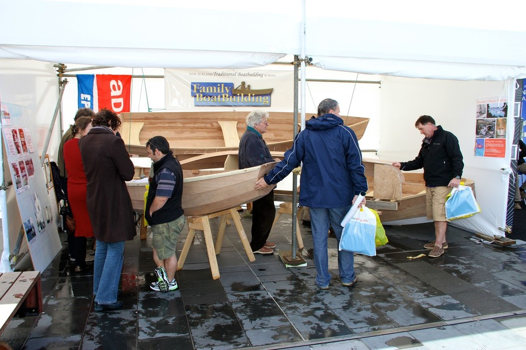 Boat restoration and traditional boatbuilding - Auckland International Boat Show, 16 September 2011 © Richard Gladwell www.photosport.co.nz