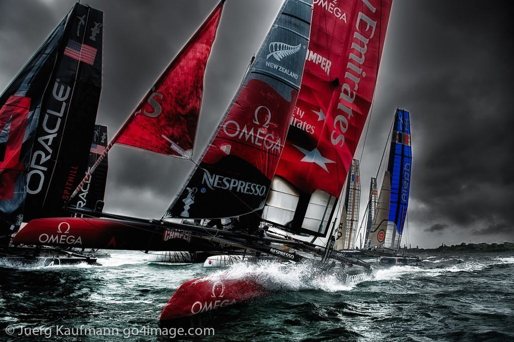 Americas Cup World Series in Plymouth, Racing Day 1 © Juerg Kaufmann go4image.com http://www.go4image.com