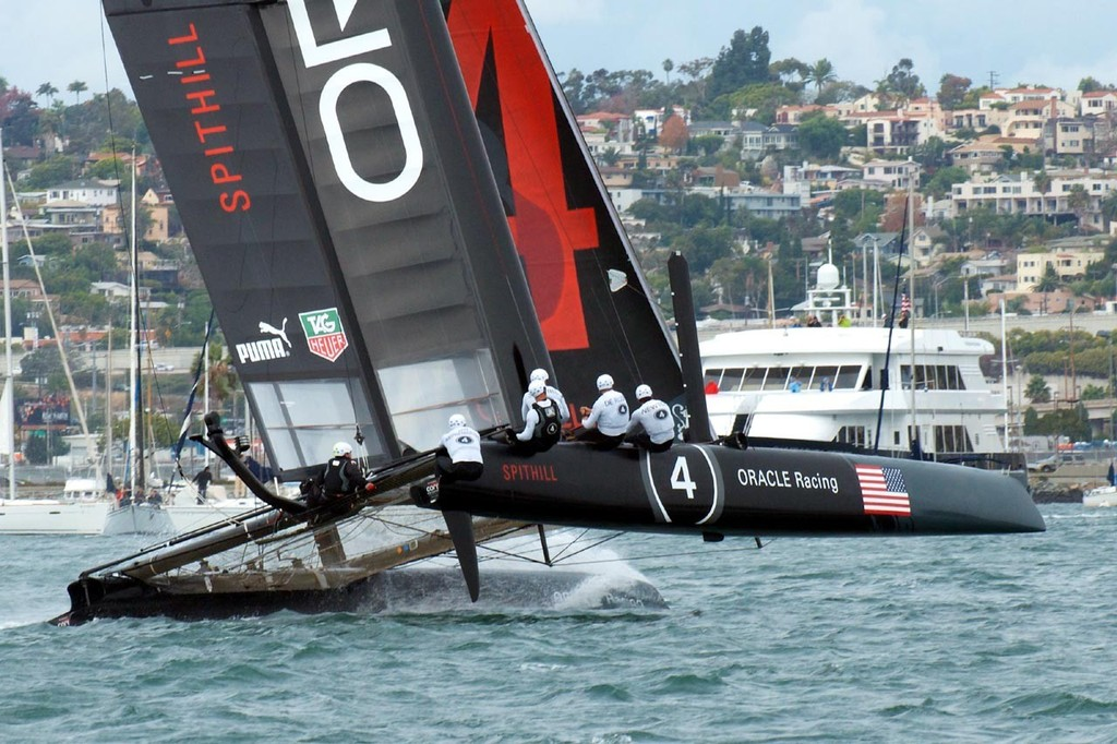 Oracle Racing Spithill - America's Cup World Series - San Diego 2011 © Bo Struye - copyright http://www.acsandiegophotoblog.com