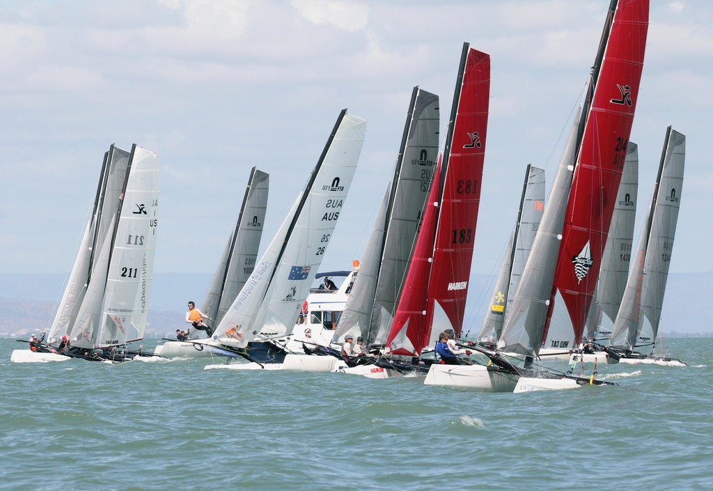 Race 9 start. Fantasea 2011 F18 Australian Championships  part of Sealink Magnetic Island Race Week 2011 ©  SW