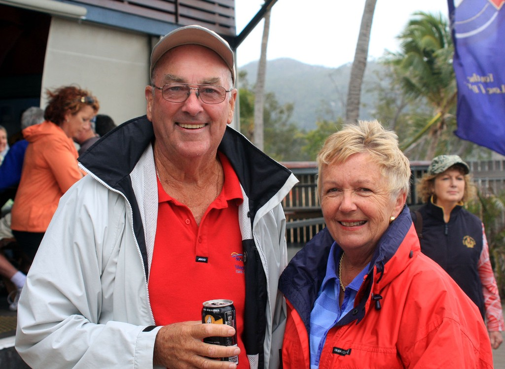 F18 RO Stewart Ross and Rosemarie Ross at the Beach Party, Sunday. Sealink Magnetic Island Race Week 2011 ©  SW