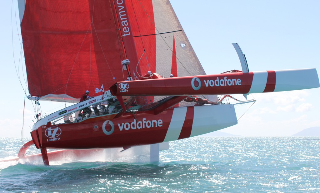 Team Vodafone Sailing flying  Airlie Beach Race Week 2011 © Airlie Beach Race Week media