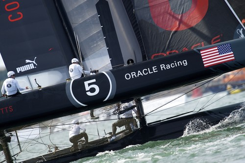 Oracle Racing Coutts competing in the  the fleet race of the AC World Series - Day 4 © Chris Schmid/ Eyemage Media (copyright) http://www.eyemage.ch