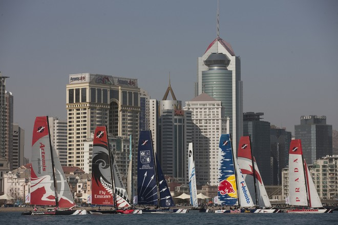 Day 4, Act 2 Qingdao, China - Extreme Sailing Series 2011 © Lloyd Images http://lloydimagesgallery.photoshelter.com/
