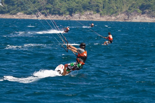 Day One of the inaugural Kiteboard Class. 2011 Phuket King's Cup Regatta.  © Guy Nowell