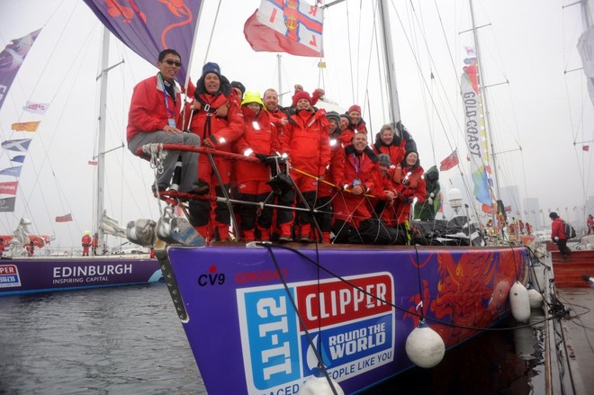 Qingdao crew in China ahead of Race 9 start to Oakland, San Francisco Bay © onEdition http://www.onEdition.com