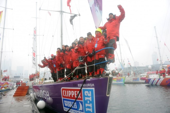 Edinburgh Inspiring Capital crew in Qingdao ahead of Race 9 start to Oakland, San Francisco Bay - Clipper 11-12 Round the World Yacht Race  © onEdition http://www.onEdition.com