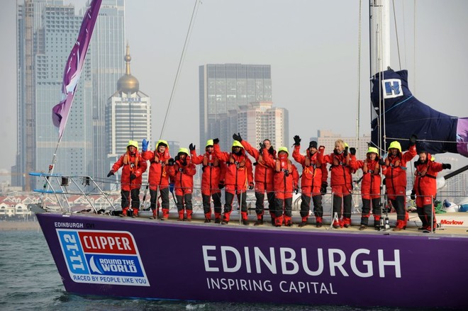 Edinburgh Inspiring Capital arrives in Qingdao, China - Clipper 11-12 Round the World Yacht Race  © onEdition http://www.onEdition.com