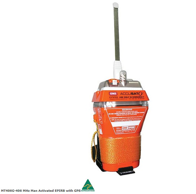 GME MT406G Epirb with GPS © GME . www.gme.net.au