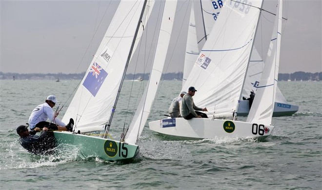 Hamish Pepper and Jim Turner (NZL) in Star fleet - Miami OCR 2012 ©  Rolex/Daniel Forster http://www.regattanews.com