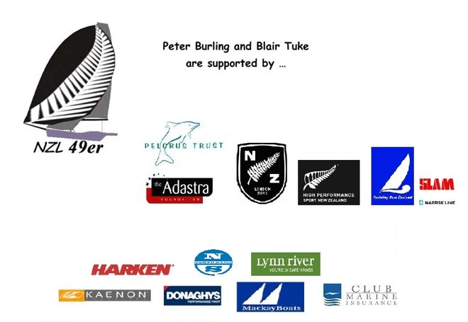 Peter Burling and Blair Tuke are supported by ... © Peter Burling and Blair Tuke
