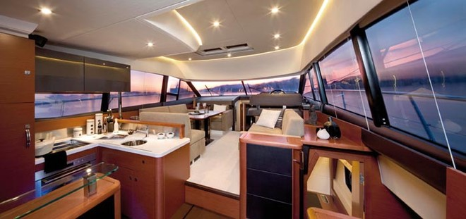 The main living area of the Prestige 500 © Prestige Luxury Motor Yachts