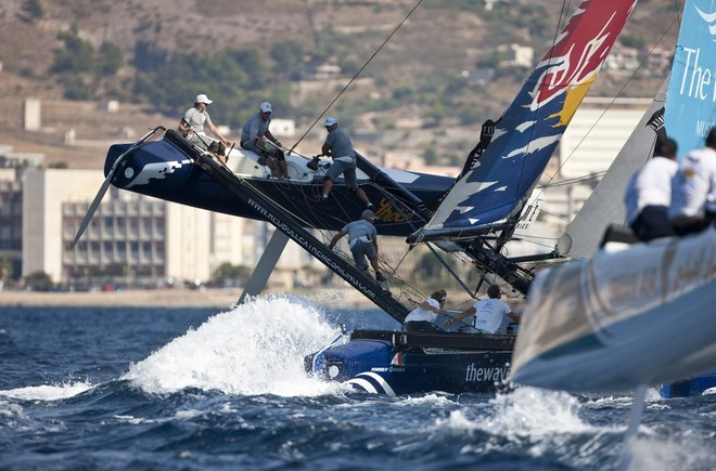 Red Bull Sailing Team & Oman Air - Extreme Sailing Series 2012 © Lloyd Images http://lloydimagesgallery.photoshelter.com/