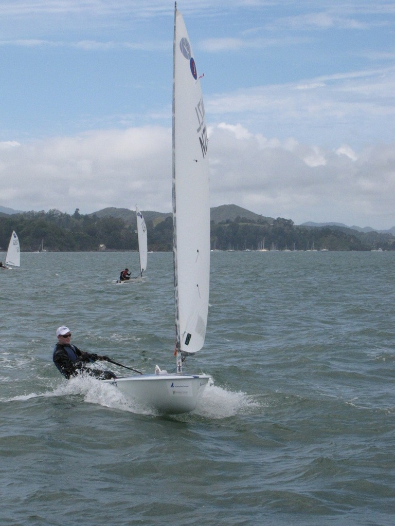 David Brown enjoying the ride - 2012 Europe Dinghy Global Veteran Cup © Andy Greager