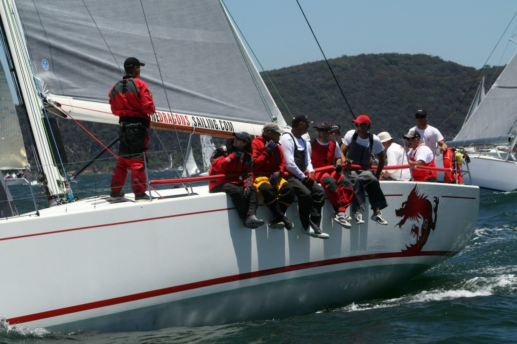 The DK 46s finish 1-2 on handicap - Bob Cox's ' Nine Dragons finished second - 2012 Pittwater & Coffs Harbour Regatta © Damian Devine