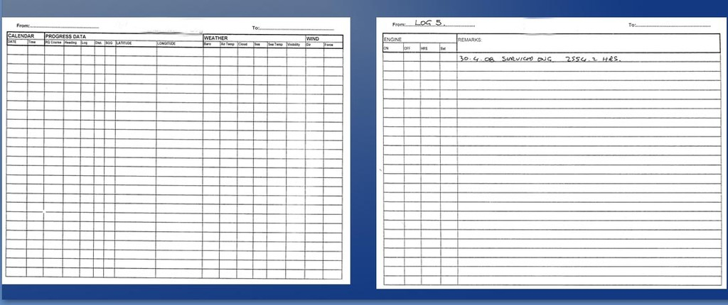 Five top tips to make your log a legal document and why for Boat log book template