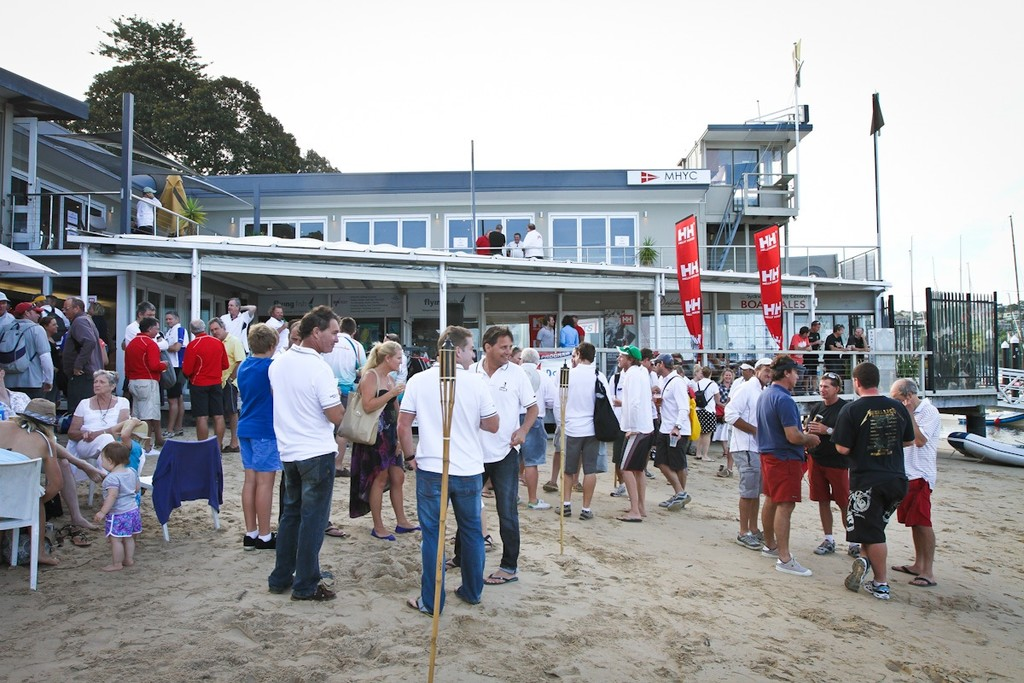 The scene back at Middle Harbour Yacht Club after racing today - 2012 Sydney Harbour Regatta  © Saltwater Images