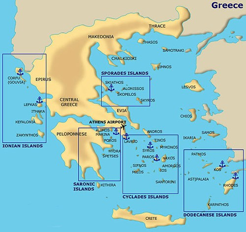 Greek Islands sailing - 5000 islands but not much of a welcome? ©  SW