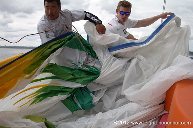 Team Sanya - Volvo Ocean Race 2011-12 © Leighton O'Connor http://www.leightonphoto.com/