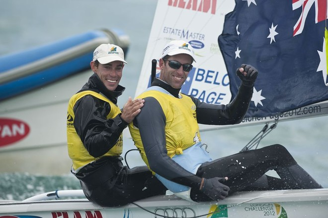Mathew Belcher and Malcolm Page (AUS11) 470M - Skandia Sail for Gold Regatta 2012 © onEdition http://www.onEdition.com