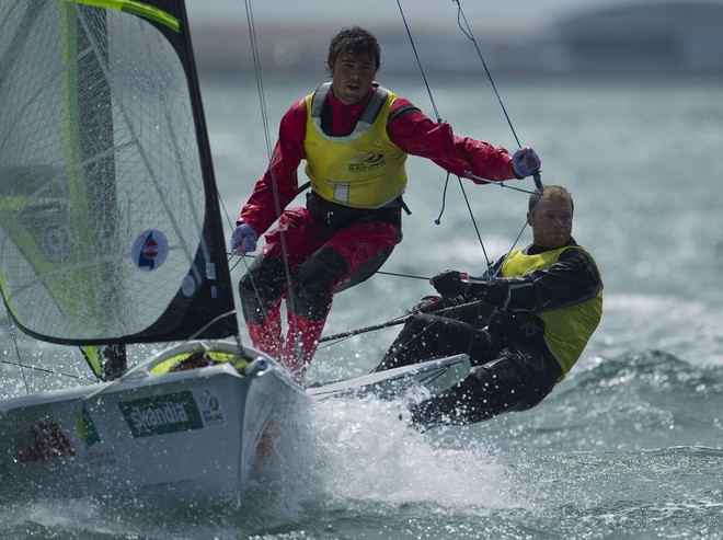 Nathan Outteridge and Iain Jensen (AUS 1) 49er - Skandia Sail for Gold Regatta 2012 © onEdition http://www.onEdition.com