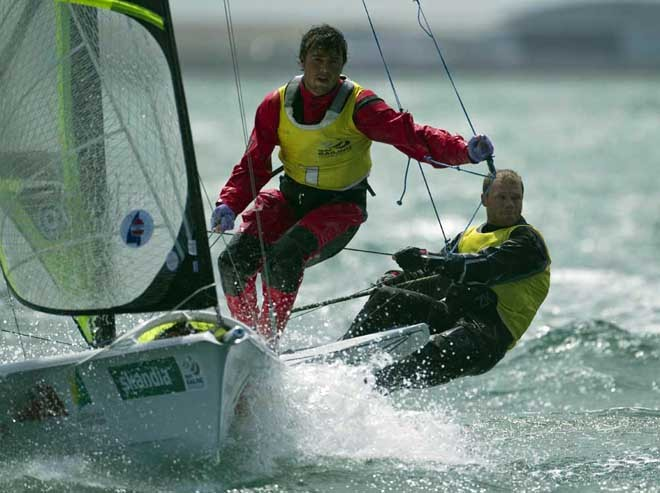 Nathan Outteridge and Iain Jensen - 49er © onEdition http://www.onEdition.com