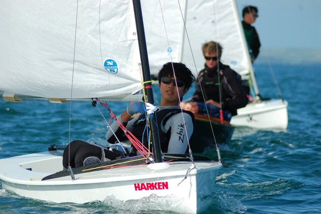 Racing on the final day of the 2012 Straling National Championships © Murrays Bay Sailing Club http://www.murraysbay.org/