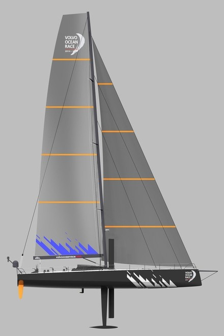 Renderings of the new Volvo Ocean Race boat design that will be used in the next two editions of the Volvo Ocean Race.  © Farr Yacht Design/Volvo Ocean Race http://www.volvooceanrace.com