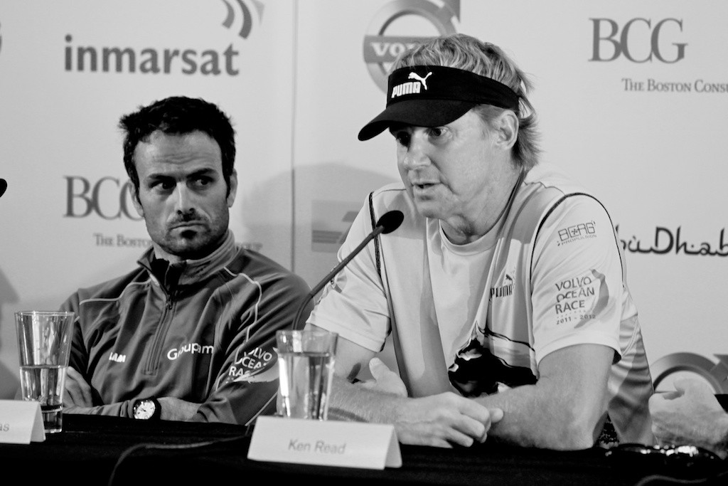 Franck Cammas (Left) Groupama) and Ken Read - Puma Ocean Racing - Volvo Ocean Race 2012 © Howard Wright /IMAGE Professional Photography http://www.imagephoto.com.au