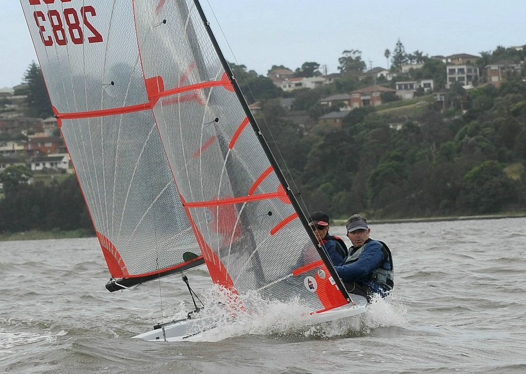 Heather MacFarlane and Chris Payne - second overall and first lady skipper - 35th NSW Tasar State Championships © Michael Remaili Action Sport Photos