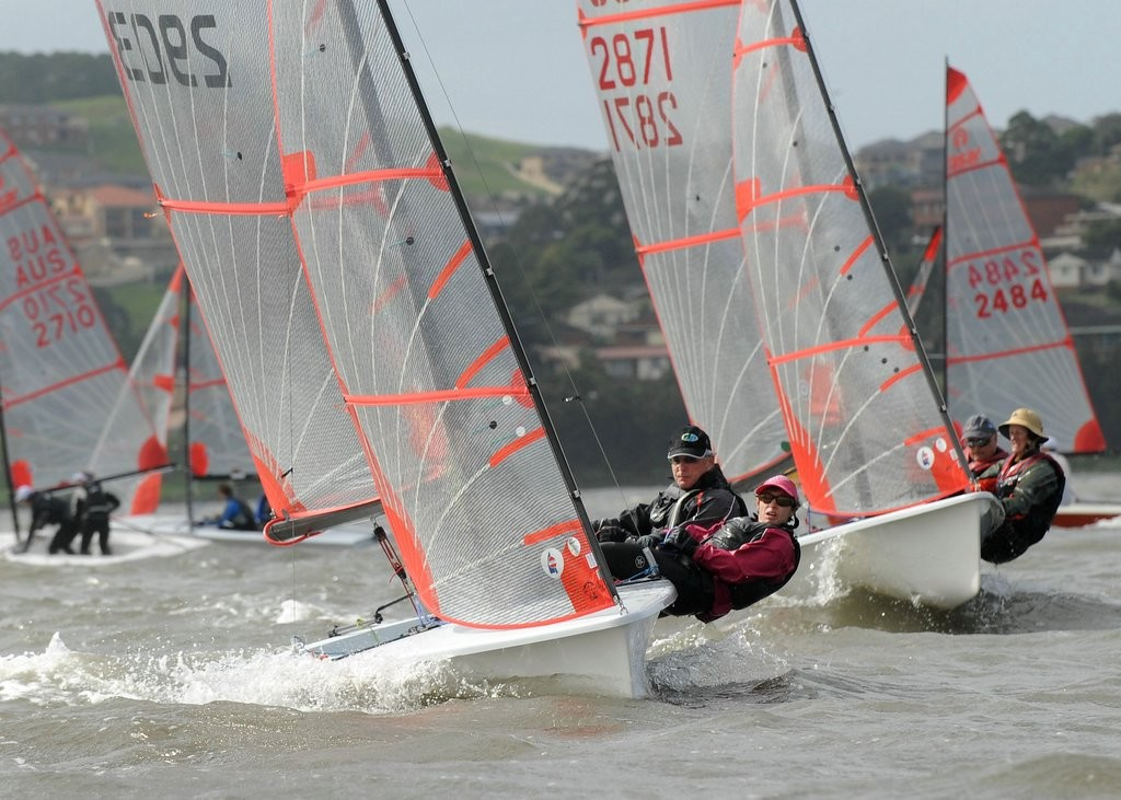 Brad Stephens and Clare Woods - ninth overall - 35th NSW Tasar State Championships © Michael Remaili Action Sport Photos