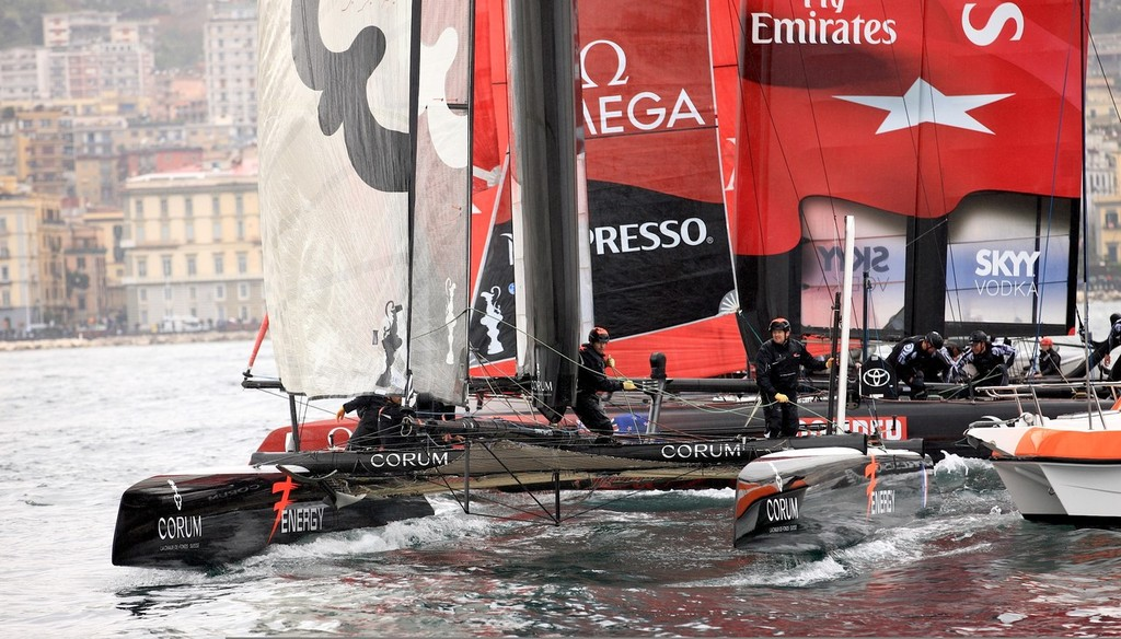 Energy Team - America's Cup World Series Naples 2012 © ACEA - Photo Gilles Martin-Raget http://photo.americascup.com/
