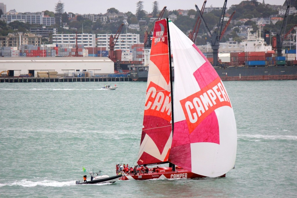 Camper on her way to win the Volvo Ocean Race - In Port Race, Auckland © Ben Gladwell http://www.sail-world.com/nz